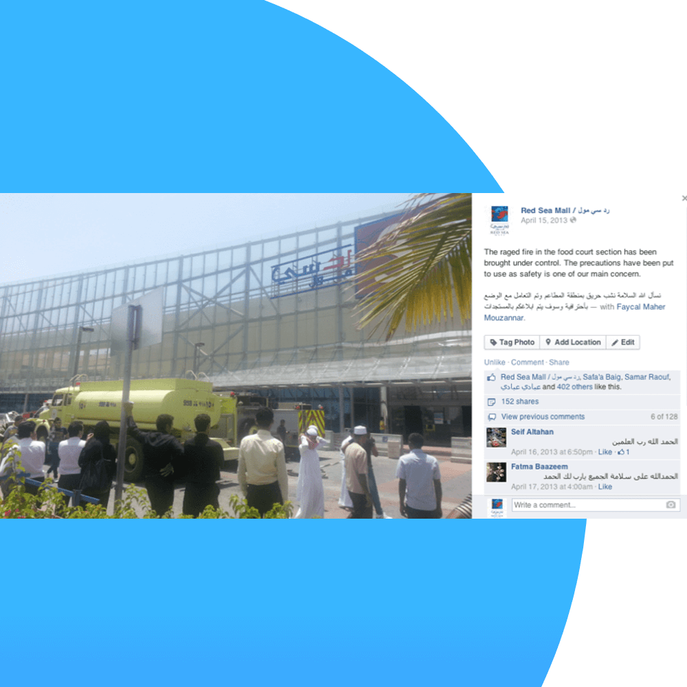 Implementing an emergency plan after a crisis helped Red Sea Mall retain their brand image