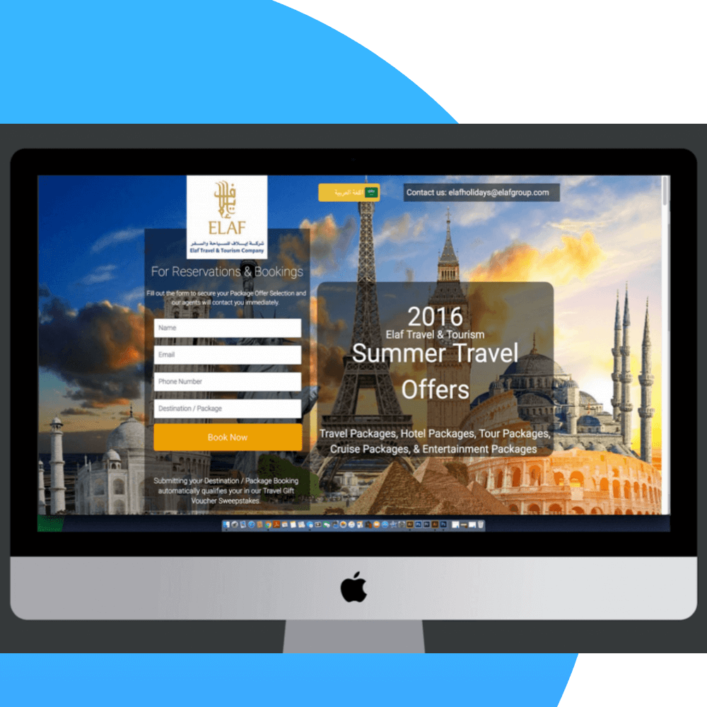 Chess Tag created a website landing page to boost leads for summer travel.