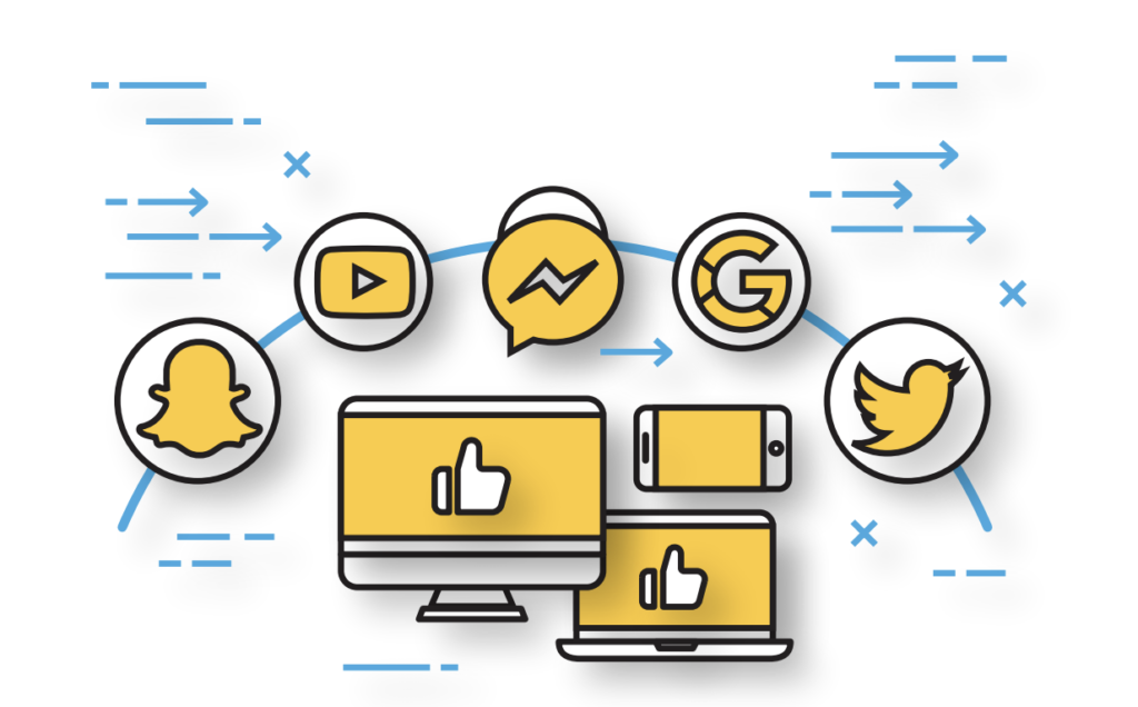 Leverage your social media channels to create a cohesive online image.